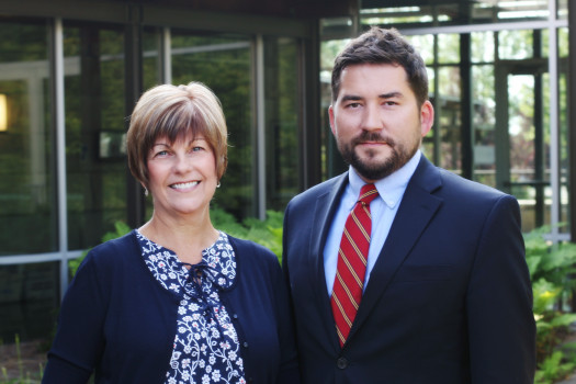 Linda Clute, Operations Manager and Andy Cullison, Director of the Prindle Institute