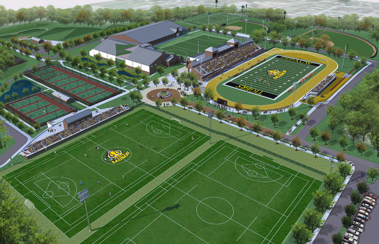 Enhancements to the University's Athletics Campus. Began in Spring 2013.
