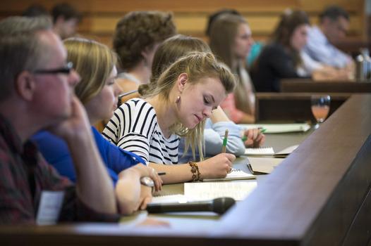 Madeline O'Brien '14 taking notes at the 2014 Undergraduate Ethics Symposium