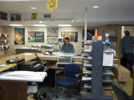 Student preparing a printing services order