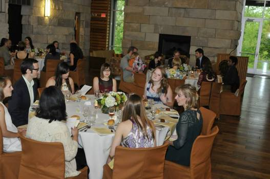 Prize winners and Prindle staff enjoy dinner at the Prindle Prize Reception