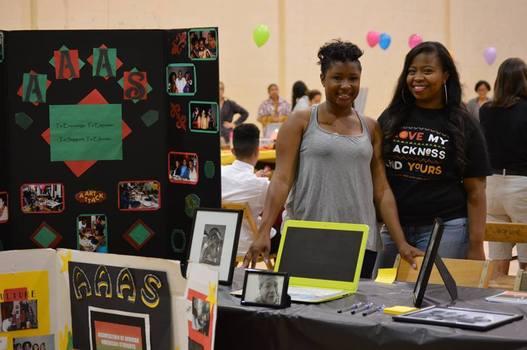 Students promoting AAAS organization