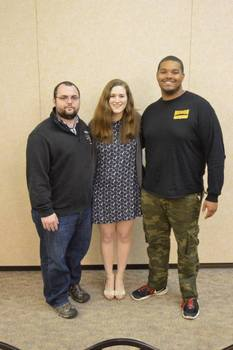 Incoming President Claire Halffield with President Cody Watson (2014-2015) and President Craig Carter (2015-2016)