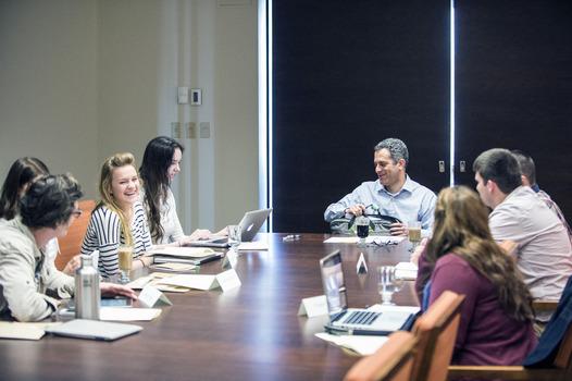 Dr. Marc Cohen (Seattle University) leads students in a seminar workshop
