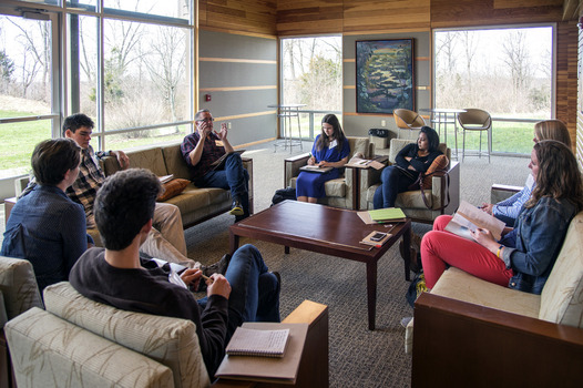 Dr. Willian Doane (Penn State University) led seminar discussion with the students who submitted creative work including music, film, short stories, and poetry
