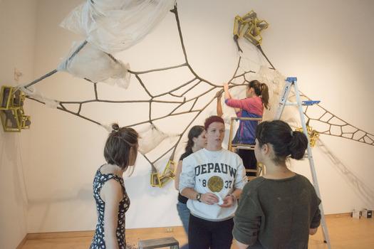 Gallery installation workshop with artist David Katz