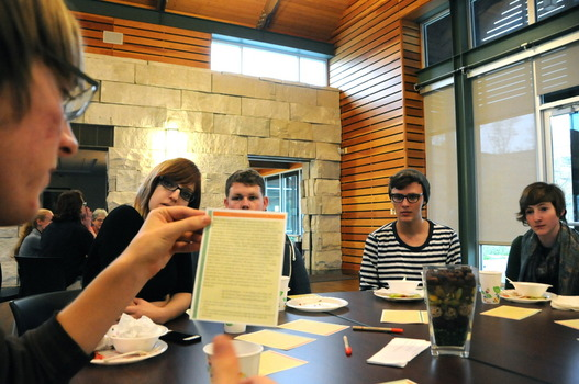 Students discuss appropriation in music at the Cultural Appropriation Dinner and Discussion