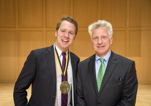 Ferid Murad Medal Recipient Stephen Dobbs and VP for Academic Affairs, Larry Stimpert