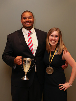 2016 Walker Cup recipient Craig Carter and 2016 Murad Medal Recipient Sheridan Schulte