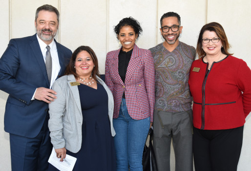 Dr. Mark McCoy, Myrna Hernandez, Darrianne and Justin Christian '95 and Melanie Norton