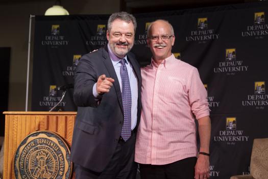 "President Dr. Mark McCoy and Dr. Humberto ""Bert"" Barreto"