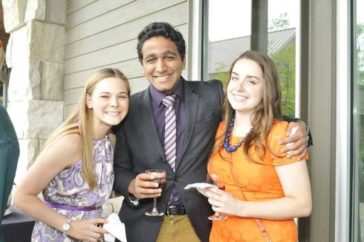Celia Klug '15, Rudra Vishweshwar '15, and Colleen McArdle '15 celebrate their Coursework Prizes
