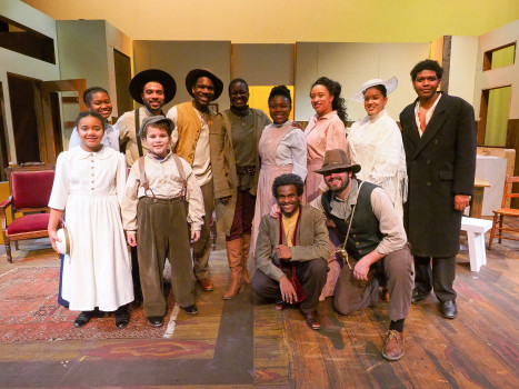 The cast of Joe Turner's Come and Gone with Director Kathryn Bentley