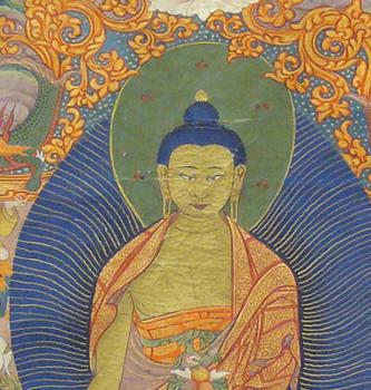 Shakyamuni Buddha and Attendants by Unknown Artist