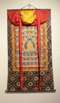 Shakyamuni Stong Sku (or 1000 Bodies) / 20th century, Tibetan Thangka, 2002.4.9, Gift of Bruce Walker '53