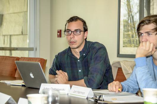 John Dabrowski (Drew University) with Jon Harmon (Colorado College) during a workshop session
