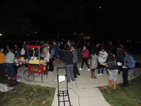 Students participating in the Ubben Quad Fall Festival