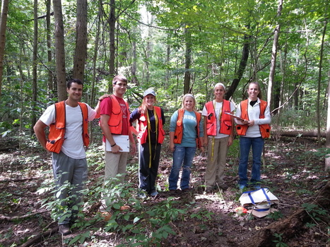 Students are ready to measure trees