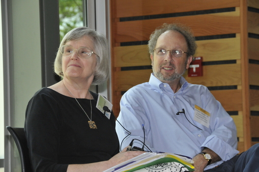 Martha Rainbolt (left) with Bob Steele (right) during Alumni Weekend
