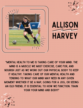 Allison Harvey, 1of 5 Mental Health Peer Educators 2020-21