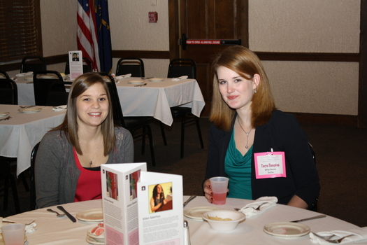 Amanda and Taryn at Indiana Women in Computing Conference