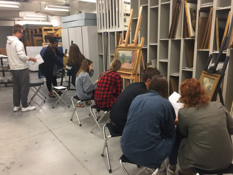American Art Survey class, Fall 2017