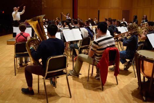 DePauw University Band during rehearsal