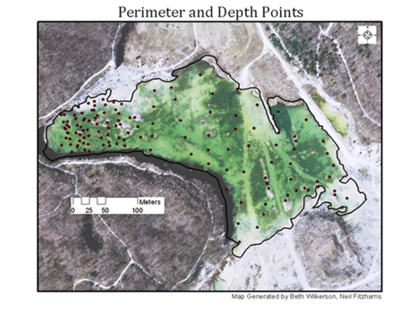 perimeter and Depth Points map generated by Beth Wilkerson, Neal Fitzharris