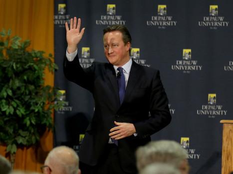 David Cameron following his Dec. 8, 2016 Ubben Lecture.