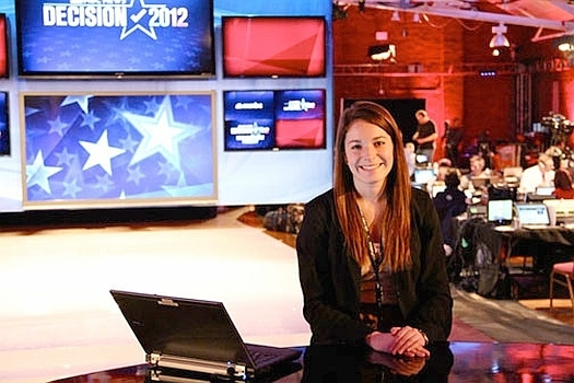 Carter McKay '13 interning at NBC in New York.