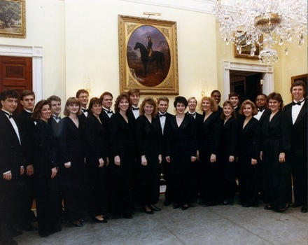 DePauw's Century Singers perform at the White House - 1990