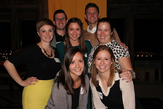 """Chicago Regional Chapter and GOLD Council members at """"A Toast to Monon,"""" November 2015"""