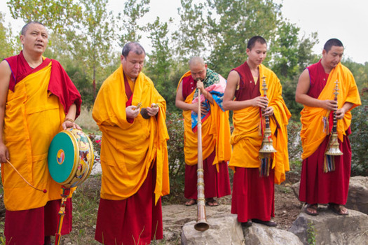 Sand Mandala closing ceremony at Prindle