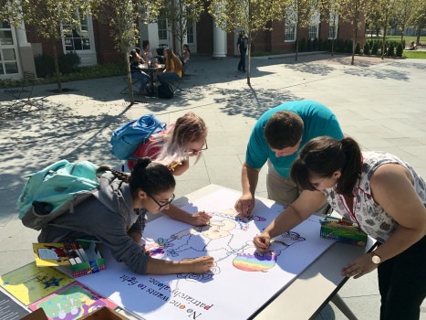 Community Coloring Project featuring the art of Jacinta Bunnell