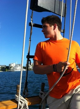 Corby sailing in Key West, Florida