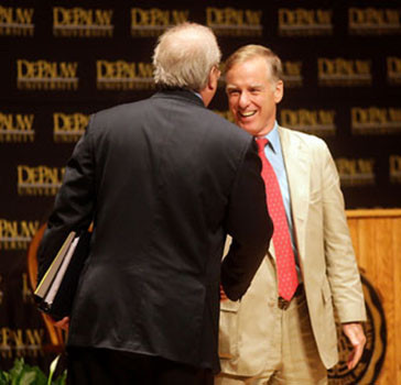 Karl Rove and Howard Dean debated in September 2009.