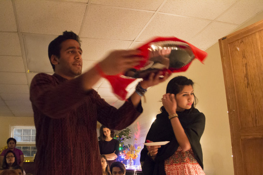 Rudra Vishweshwar '15 leads the Diwali Puja