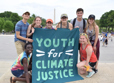 Students in Washington DC for Youth for Climate Justice