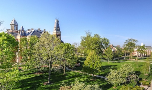 The Facilities Management team maintains the University's grounds and landscaping.