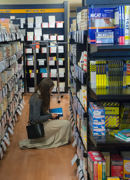 Eli's Books carries textbooks, best-selling fiction and non-fiction, along with DePauw apparel.