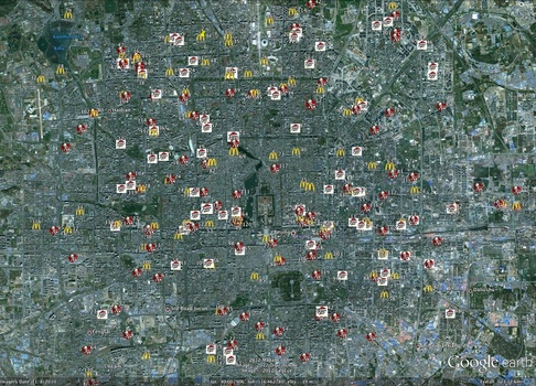Spread of Fast-Food Restaurants in Beijing, China by Yue Yu