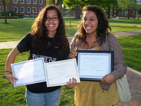 Members of Omega Phi Beta Sorority, Inc. after Order of Omega's 2010 Greek Awards