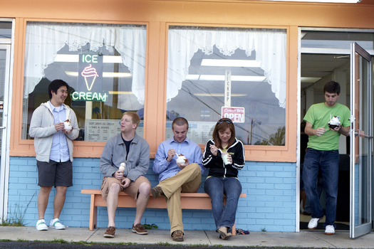 Local favorites attract a mix of students and Greencastle locals.