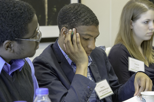Henry Dambanemuya '13 at the 2013 Undergraduate Ethics Symposium