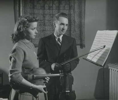 1934—Violinist Herman C. Berg joins faculty as Professor of Violin and Viola