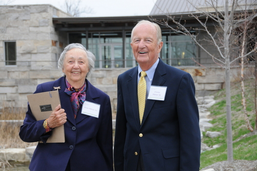 Anne and Charles Hillman at the Undergraduate Ethics Symposium