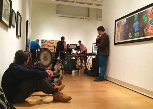 Percussion@Peeler gallery performance