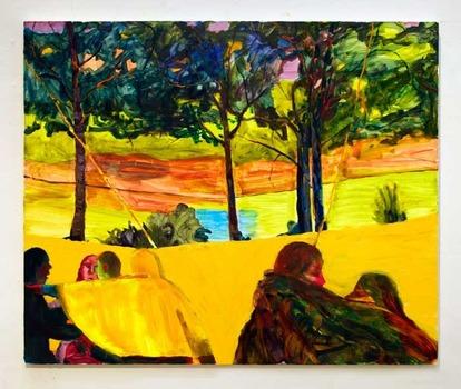 "The Kiss 2013 oil on canvas 40"" x 50"""
