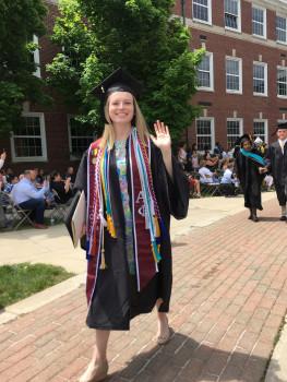Chelsea Conard '18 at graduation.