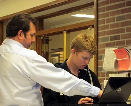The Laptop Support Center  assists students with laptop repairs and service.